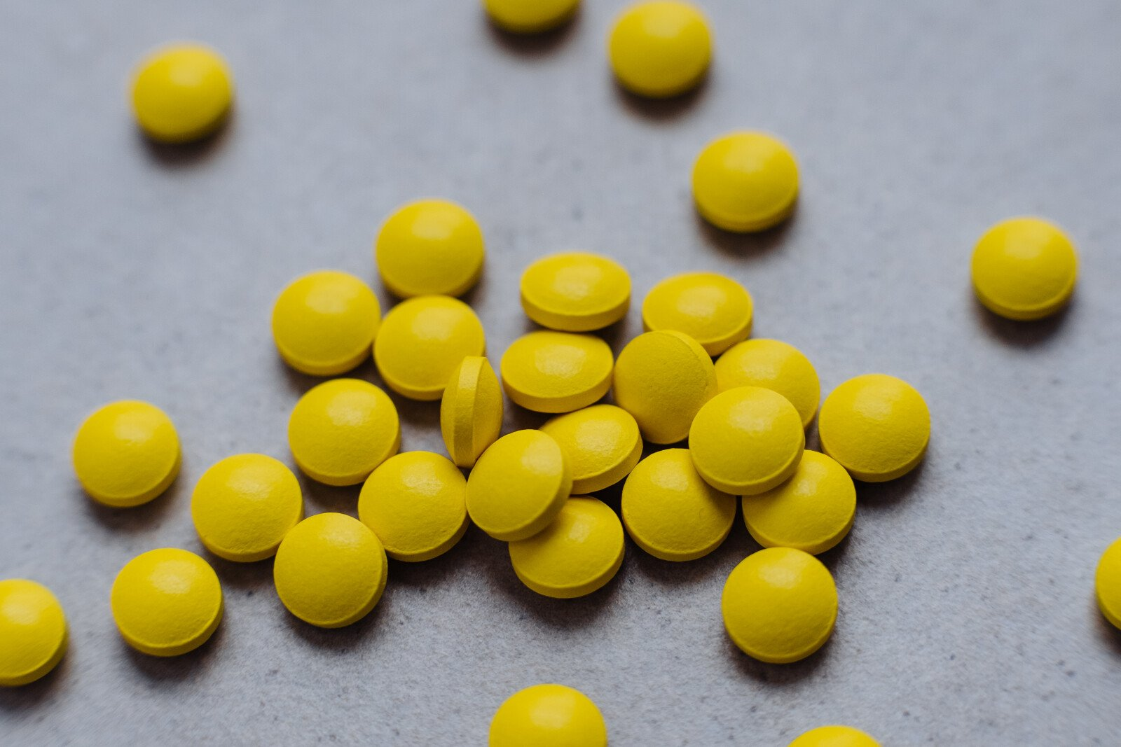 The Nervous System: Image of pills scattered on a surface