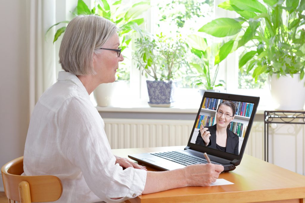 Virtual therapy: image of a virtual therapy session